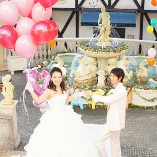 提携結婚式場でのコーディネート事例のイメージ